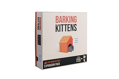 Barking Kittens: This is The Third Expansion of Exploding Kittens Card Game - Family-Friendly Party Games - Card Games for Adults, Teens & Kids
