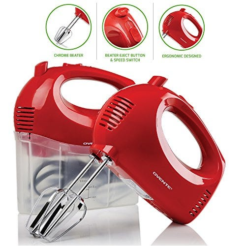 Ovente Electric Hand Mixer 5 Speed