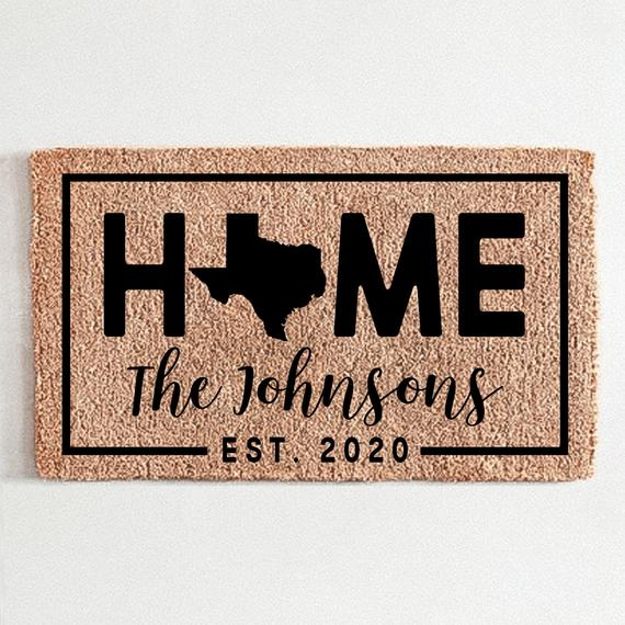 Personalized Texas Doormat