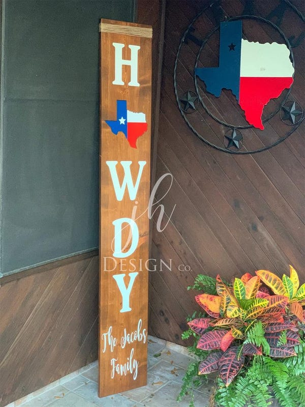 Texas Welcome Porch Sign