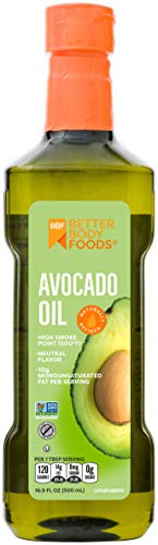 BetterBody Foods Avocado Oil, Refined Non-GMO Cooking Oil for Paleo and Keto