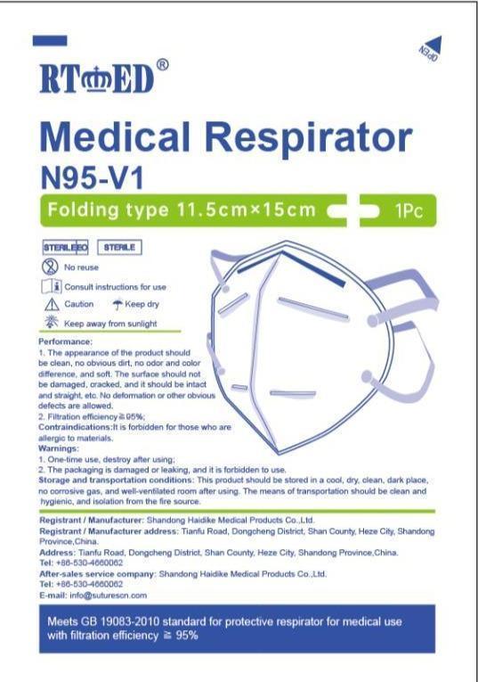 N95 Medical Respirator Mask