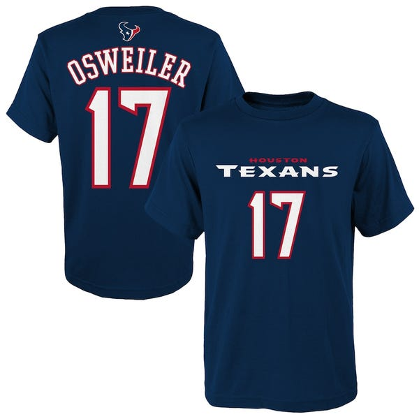Brock Osweiler Houston Texans Youth Mainliner Name & Number T-Shirt