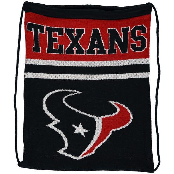 Houston Texans Knit Drawstring Backpack