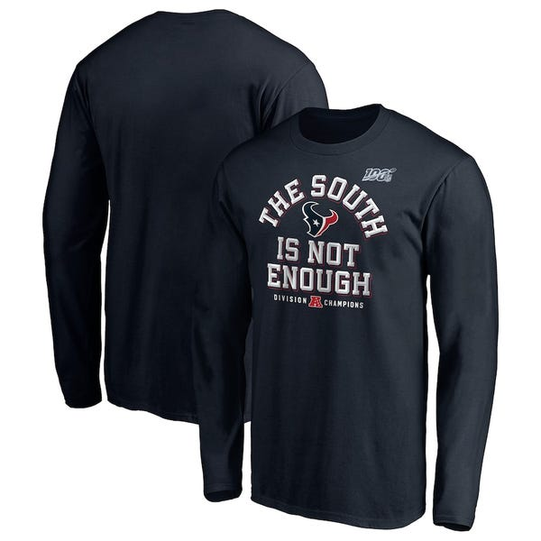 Houston Texans NFL Pro Line Long Sleeve T-Shirt - Navy