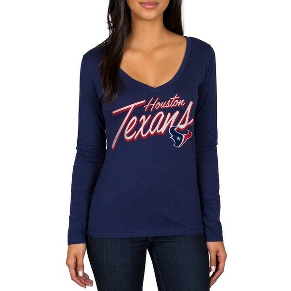 Houston Texans Women's Scrimmage 1-Hit V-Neck T-Shirt
