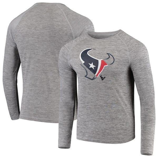Iconic Vital to Success Synthetic Long Sleeve Raglan T-Shirt - Heathered Gray