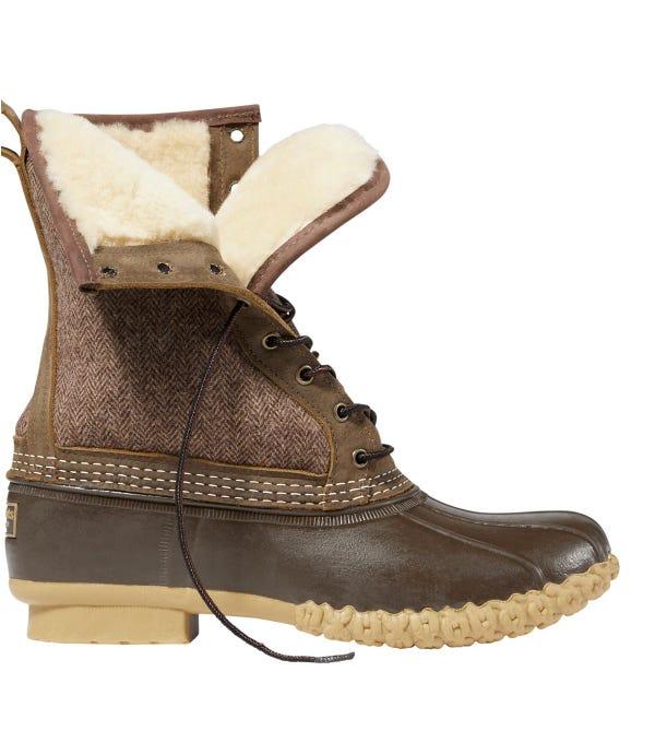 """Men's L.L.Bean Boot, 10"""" Shearling-Lined Herringbone"""
