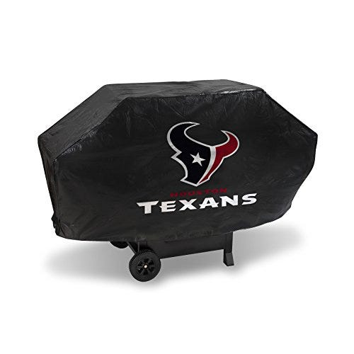 Vinyl Padded Deluxe Grill Cover- Texans