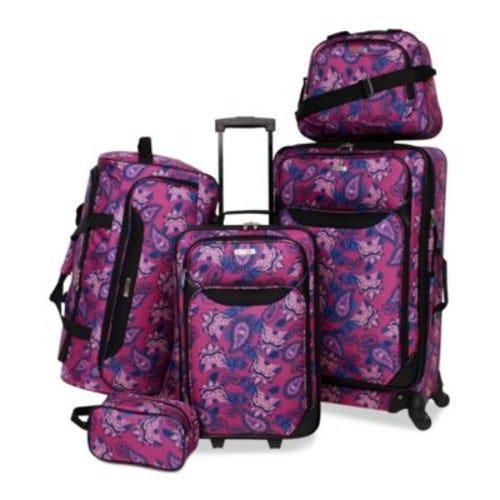 Springfield III Printed 5-Pc. Luggage Set, Created for Macy's