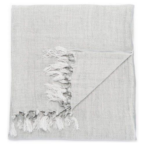 Malea Linen Throw, Mirage Gray