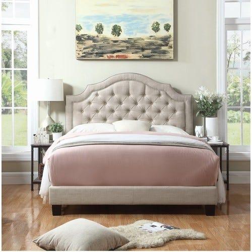 Beige Swanley Upholstered Standard Bed