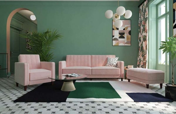 This bright pink sofa has 12,000 reviews and is $350 during Wayfair's Way Day sale
