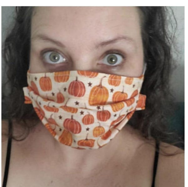 Fall Halloween face mask