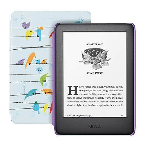 Kindle Kids Edition - Includes access to thousands of books - Rainbow Birds Cover