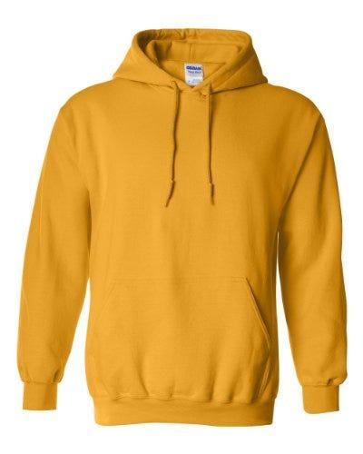 Gildan Heavy Blend Adult Unisex Hooded Sweatshirt/Hoodie (S) (Gold)