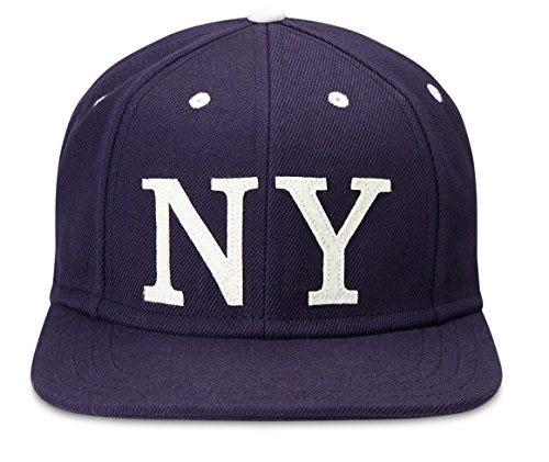 Gents The Ace NY Flat Brim Snapback Baseball Cap Navy One Size