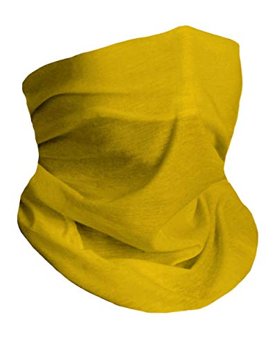 Into the AM Soft Yellow Neck Gaiter Face Scarf Mask Bandana Gator