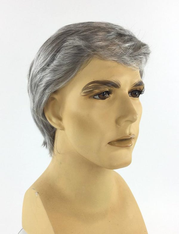 NEW! Dr. ANTHONY FAUCI Character Deluxe Men's Theatrical Costume Wig by Funtasy Wigs
