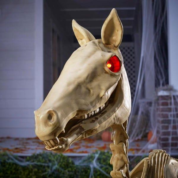 4 ft. LED Skeleton Pony