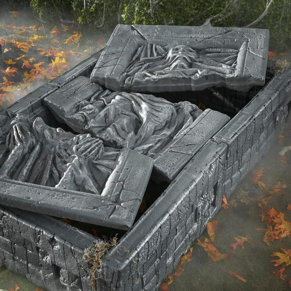 Grave and Bone Crypt Ruin (Tomb and Lid Only)