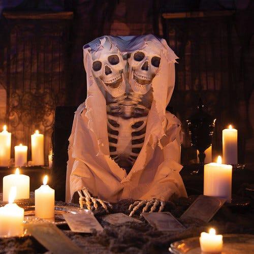Halloween Lifesize Two Headed Skeleton - Home Decor