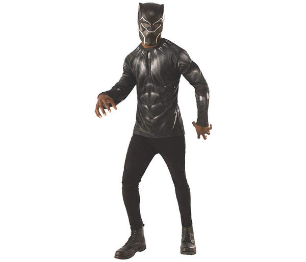 Avengers Infinity War Black Panther Long Sleeve Adult Costume Top & Mask