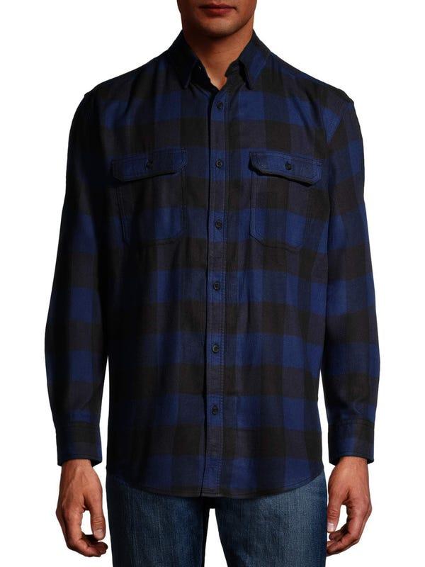 GEORGE - George Men's and Big Men's Super Soft Flannel Shirt, up to 5XLT