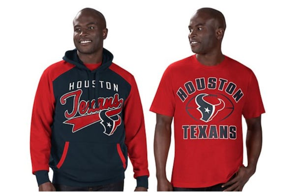 NFL Team Pullover Hoodie and T-Shirt
