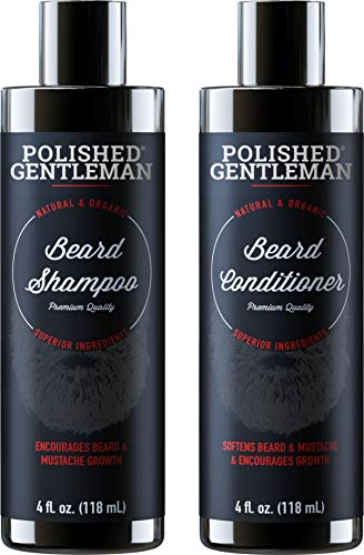 Beard Growth Shampoo and Conditioner Set - Best Natural Face Wash With Biotin & Tea Tree - Best Beard Soap With Beard Oil - Facial Hair Growth Kit For Men - Rapid Hair And Beard Growth - Made In USA