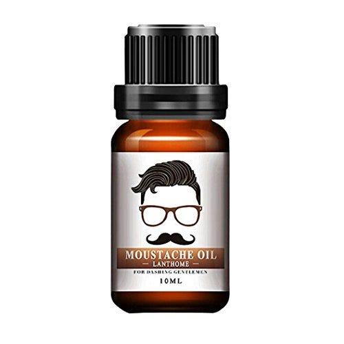 Lotus.flower Herbal Beard Essential Oil Moustache Styling Moisturizing Smoothing Gentlemen Care 10ml (10ML)