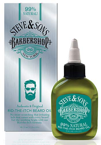 Steve and Sons Barbershop 99% Natural Rid-The-Itch Beard Oil 2.5 ounce