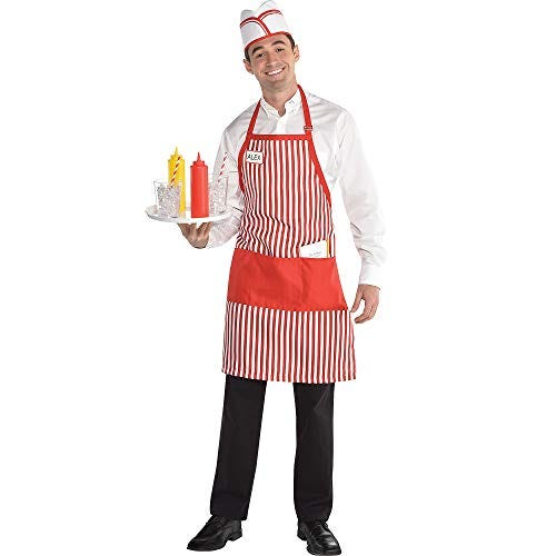 amscan Waiter Costume Kit for Adults- One Size, Multicolored