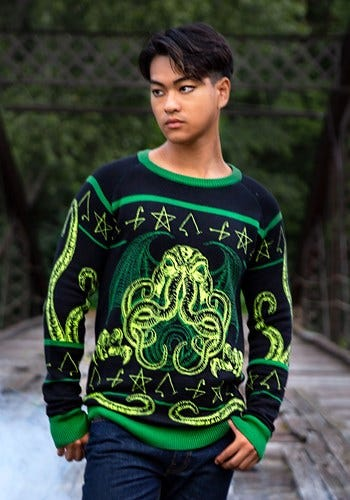 Rage of Cthulhu Halloween Sweater for Adults