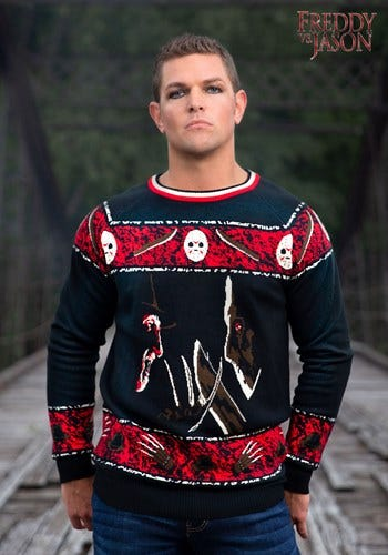 Adult Freddy vs Jason Halloween Sweater