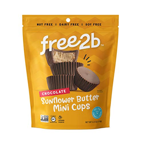 Free 2b Chocolate Sun Cups Minis, Gluten-Free, Dairy-Free, Nut-Free and Soy-Free - 4.2 Oz (Pack of 3)