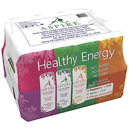 Aspire Healthy Energy Drink 12 Piece Variety Pack