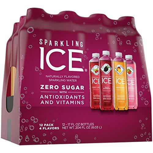 Sparkling Ice Purple Variety Pack, 17 fl oz, 12 count (Black Raspberry, Cherry Limeade, Orange Mango, Kiwi Strawberry)