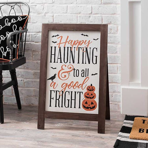Happy Haunting Porch Easel