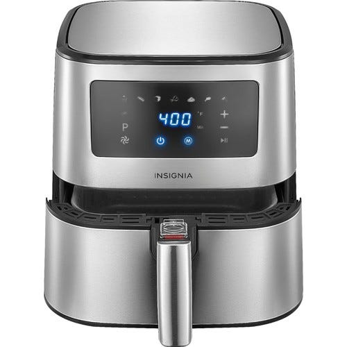Insignia™ - 5-qt. Digital Air Fryer - Stainless Steel