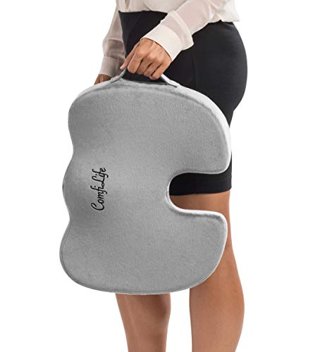 Non-Slip Orthopedic Gel & Memory Foam Coccyx Cushion