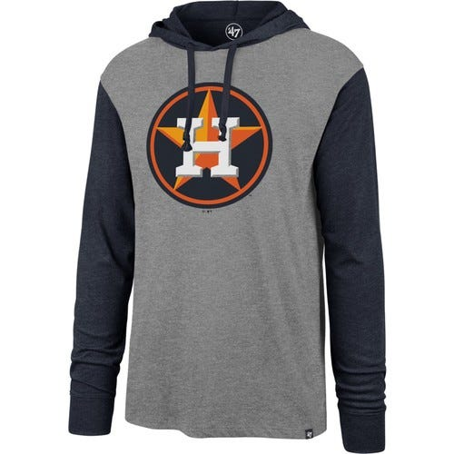 Men's Houston Astros Grey Callback Sport Fleece Pullover Hoodie