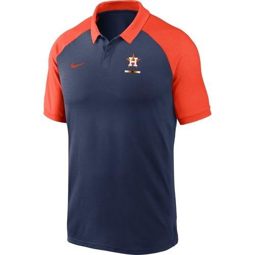 Nike Men's Houston Astros Navy Dri-FIT Legacy Raglan Polo