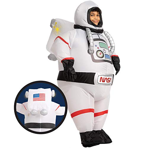 Spooktacular Creations Astronaut Halloween Inflatable Costume- Child 7-10 yrs White