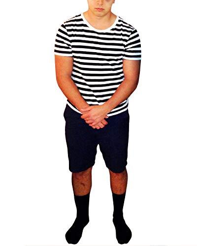 GIKING Halloween Costumes for Boys Pugsley Addams Shirt Pajamas Suits for Boy BlackBoy L