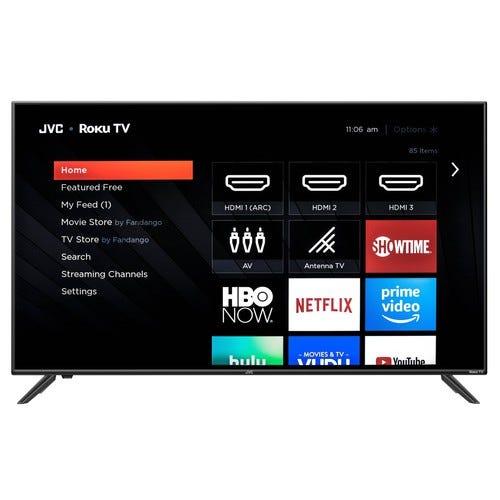 "JVC 50"" Class 4K UHD 2160p HDR Roku Smart LED TV LT-50MAW595"