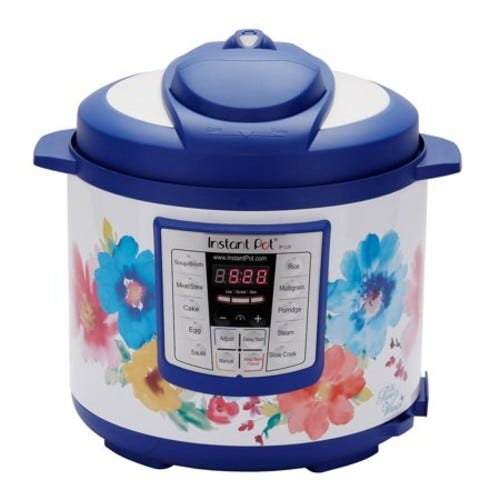 The Pioneer Woman Instant Pot LUX60 Breezy Blossoms 6-Quart 6-in-1 Multi-Use Programmable Pressure Cooker