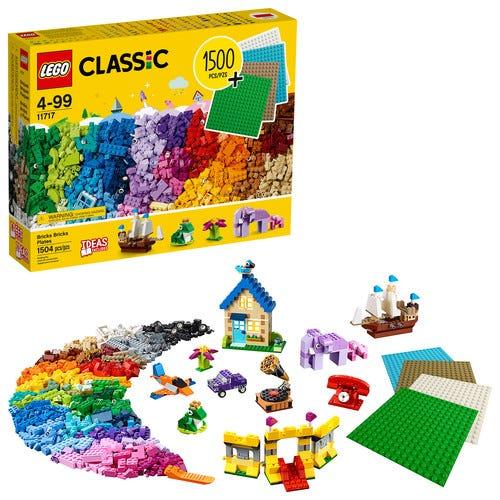 LEGO Classic Bricks Bricks Plates 11717 Building Toy (1504 Pieces)