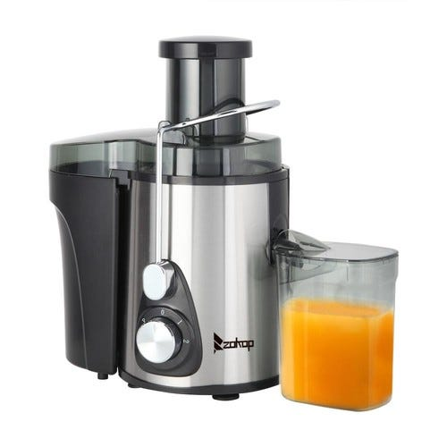 Ktaxon 1L 2 Speed Juicer Machine Juice Extractor for Whole Fruit and Vegetables, Silver