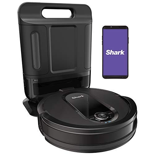 Shark IQ Robot Self-Empty XL RV1001AE, Robotic Vacuum, IQ Navigation, Home Mapping, Self-Cleaning Brushroll, Wi-Fi Connected, Works with Alexa